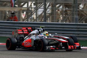 Button and Perez battle it out