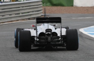 The rear of the McLaren MP4-29