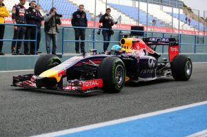 Sebastian Vettel in the RB10