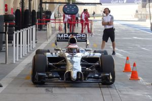 Button in the pits